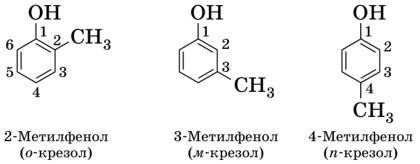 Изомеры Крезола