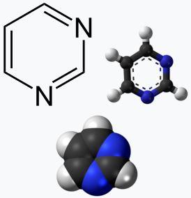 Химическая структура Пиримидина