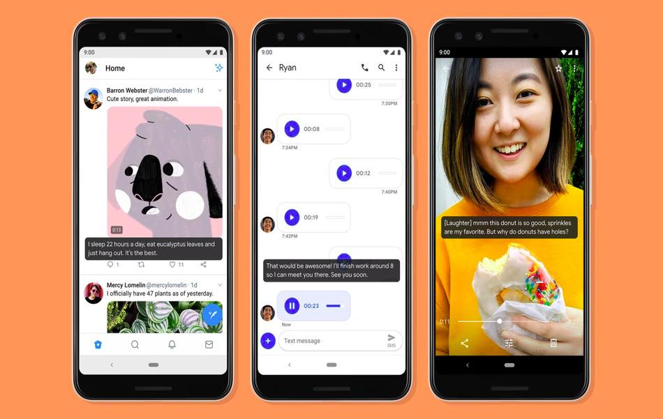 Live Сaption в Android 10