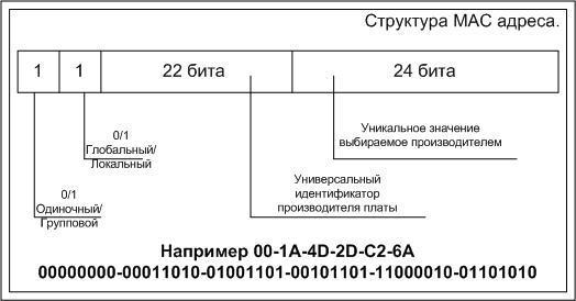 Структура MAC-адреса