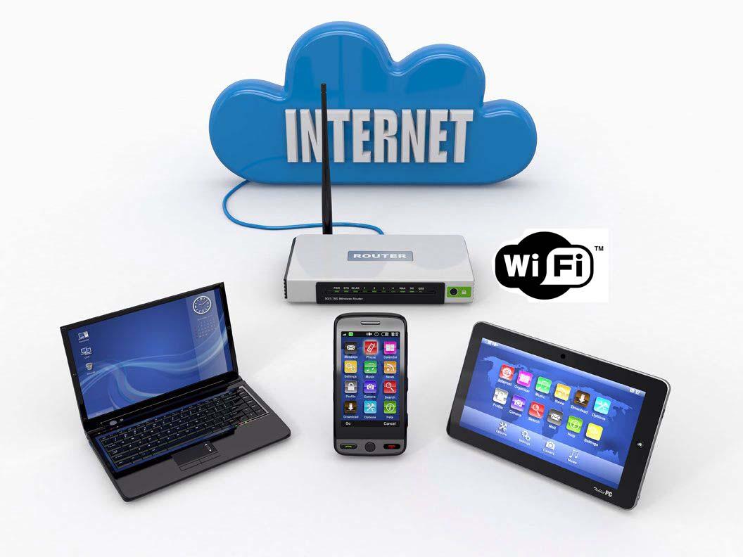 Wi-Fi, обычно, используется для подключения к Интернету