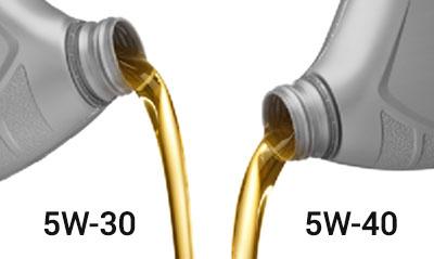 Разница между 5W30 и 5W40