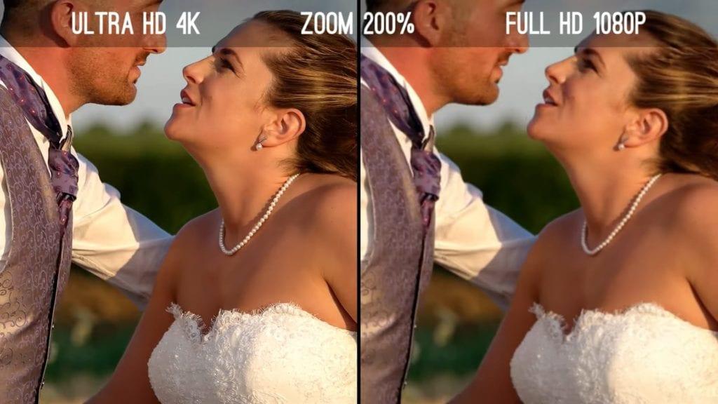 Сравнение 4К (Ultra HD) и 1080р (Full HD)