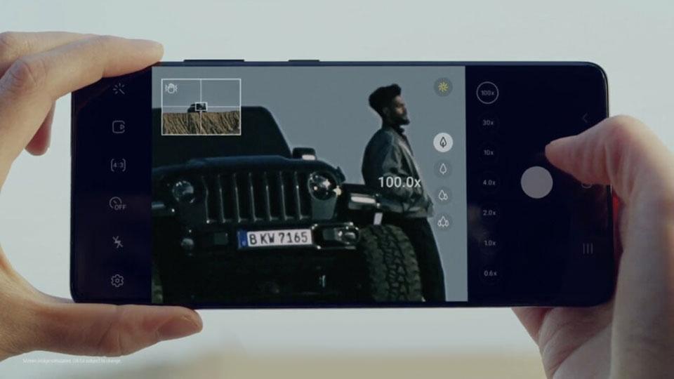 Камера Samsung Galaxy S21 Ultra имеет максимальный 100-кратный зум