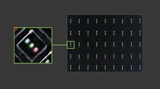 Micro-LED дисплей под увеличением