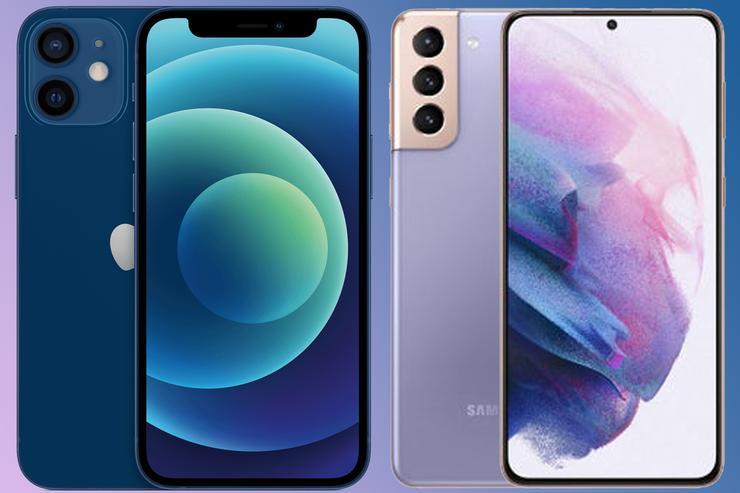 Разница между Samsung Galaxy S21 и iPhone 12