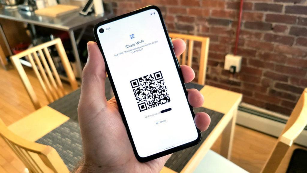 Совместное использование сети Wi-Fi в Android 12