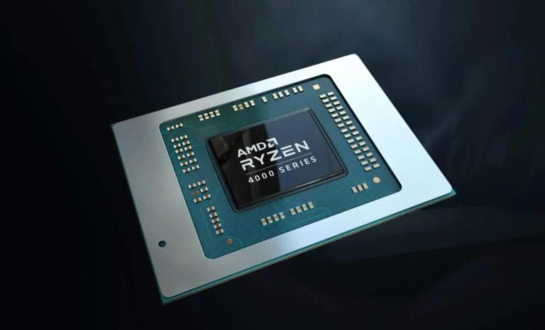 "Визуализация чипа ноутбука AMD Ryzen 4000 ""Renoir"""