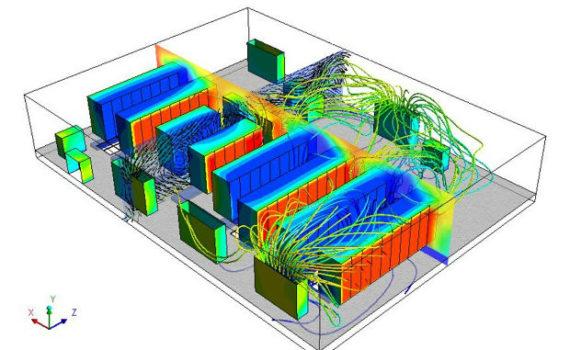 Пример математического моделирования охлаждения в дата-центре