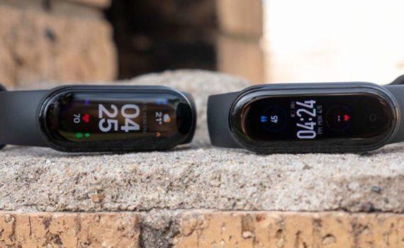 Слева направо - Xiaomi Mi Band 6, Xiaomi Mi Band 5
