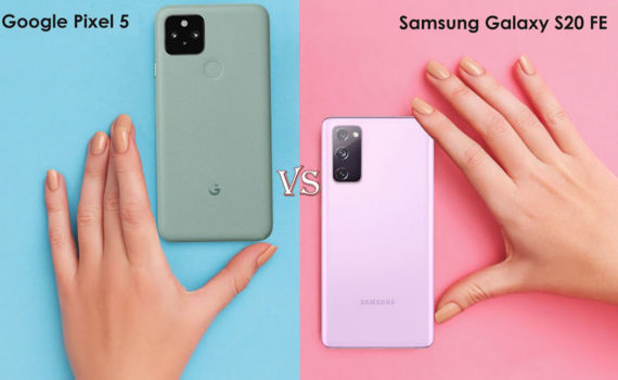 Google Pixel 5 и Samsung Galaxy S20 FE