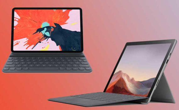 Microsoft Surface Pro 7 и Apple iPad Pro 12.9 (2021)