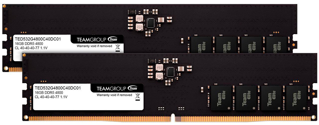 Оперативная память Team Elite DDR5-4800 2х 16 ГБ