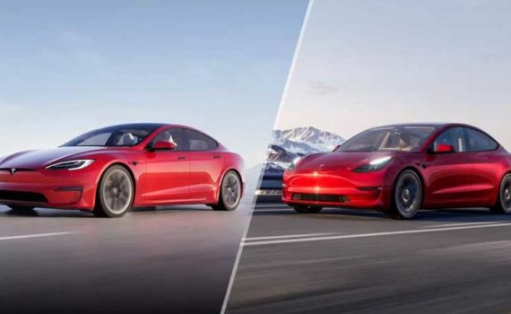Tesla Model S и Tesla Model 3
