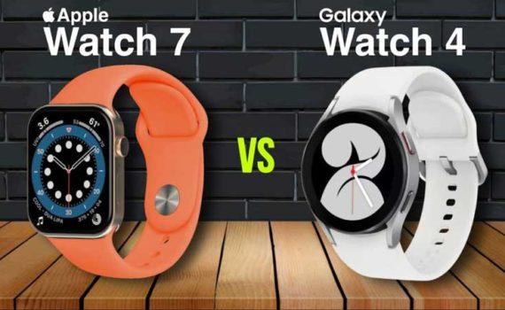 Apple Watch 7 и Samsung Galaxy Watch 4