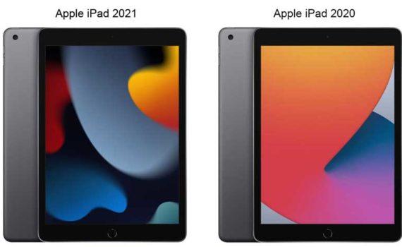 Внешне Apple iPad 2021 и iPad 2020 не сильно оличаются, но новый iPad имеет более быстрый процессор, большую память и лучшую селфи камеру