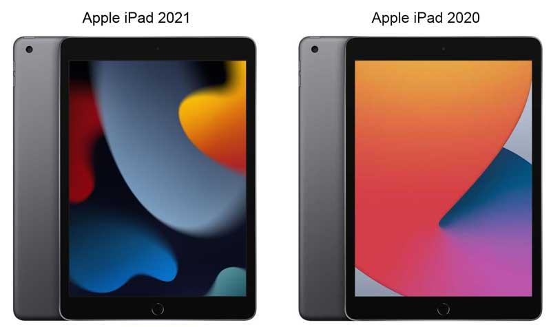Внешне Apple iPad 2021 и iPad 2020 практически не отличаются, но новый iPad имеет более быстрый процессор, большую память и лучшую селфи камеру