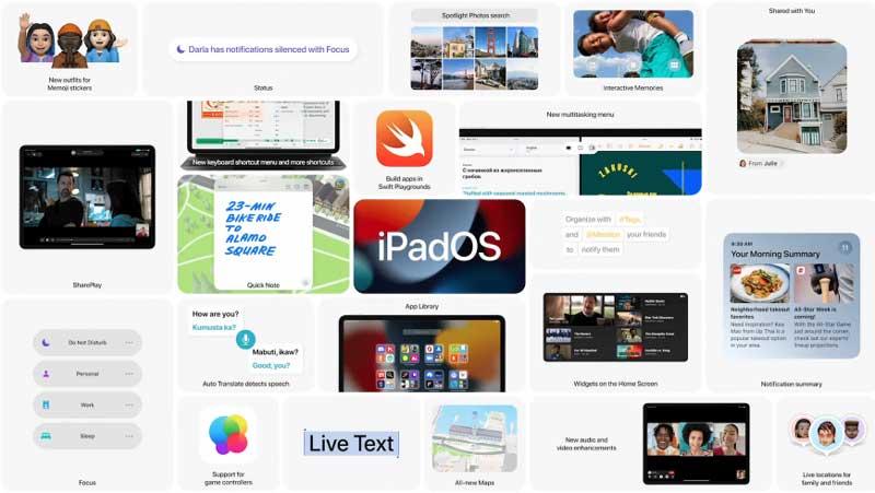 Новые функции iPadOS 15