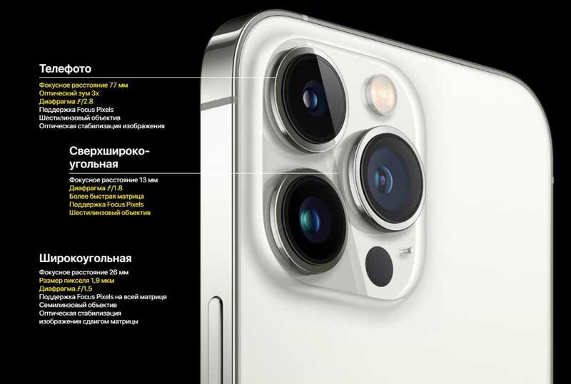 IPhone 13 Pro Max - самый мощный iPhone на сегодняшний день. Причём, как и в iPhone 13 Pro, в iPhone 13 Pro Max установлены самые передовые камеры на данный момент